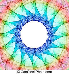 Fractal kaleidoscope - Colorful 3D rendered kaleidoscope...