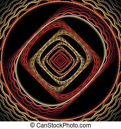 fractal, laccio