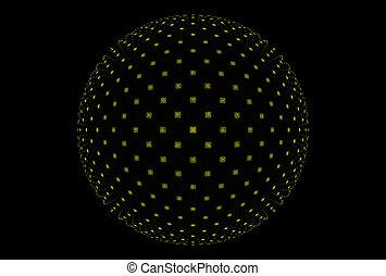 fractal, magische kugel, fantasie