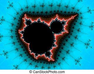 Fractal Mandelbrot in a blue colors for design