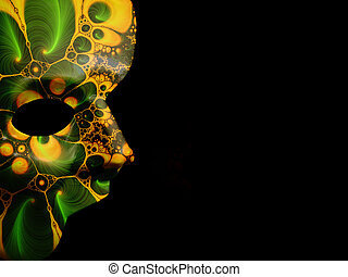 Fractal Mask 2 - Photo of a Half Mask With Fractal patter....