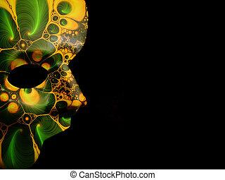 Fractal Mask 2 - Photo of a Half Mask With Fractal patter. ...