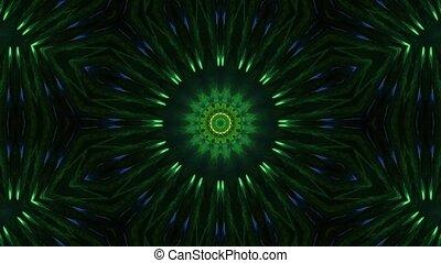 Green Shade Variation Prismatic Tunnel 4k uhd 3d rendering vj loop