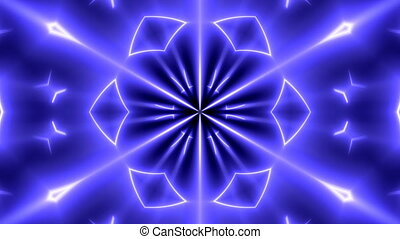 Fractal neon kaleidoscopic background. Abstract digital...