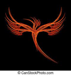 fractal, pájaro