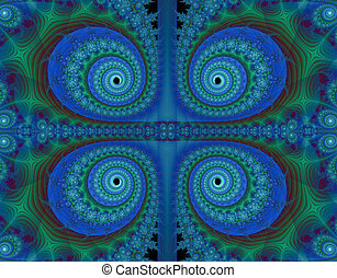 Fractal paisley background