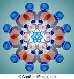Fractal Pattern Abstract 3D photo