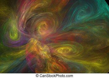 fractal pattern - a colorful fractal background