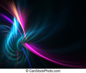 Fractal Plasma Vortex - A colorful fractal backdrop with...