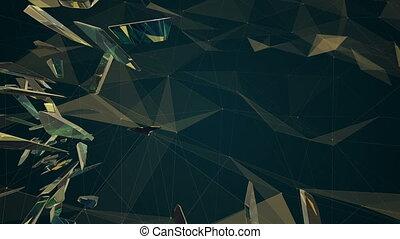 Fractal plexus abstract animation 3d