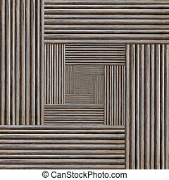 fractal portal abstract background, the illusion of volume infinity, gray monochrome texture wooden wall