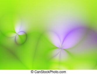 fractal, primavera, resumen, plano de fondo, arte