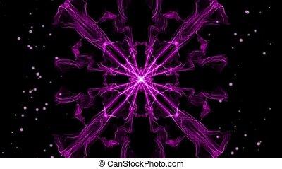 fractal, purpurowy, dym, wzory, obracający, żywy, światła, ...