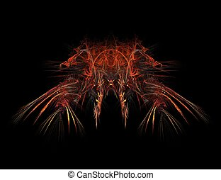 Fractal red devil