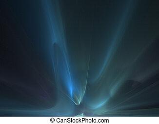 fractal rendering resembling aurora borealis
