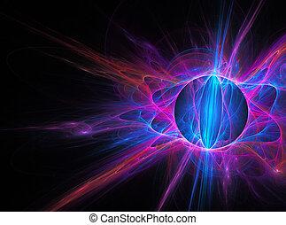 fractal, resumen, plano de fondo, arte, globo