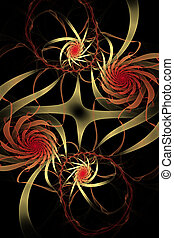 fractal, rubans