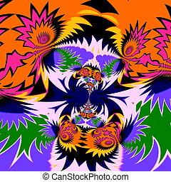 fractal, schock, pattern., psychedelisch