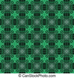 Fractal seamless creative pattern in green colors