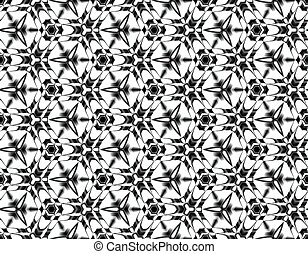 Fractal seamless illusion of snowflakes with the stars