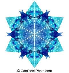 snowflake - fractal snowflake on black background