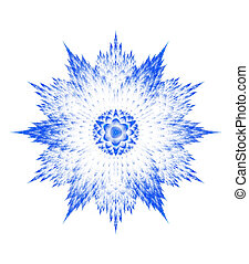 Fractal snowflake on white background