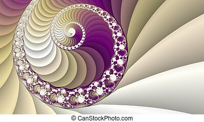 Fractal spiral background