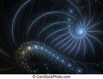 fractal spiral. background