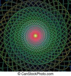 Fractal spiral design background