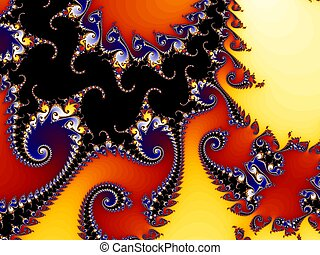 Fractal structure with vortices and curls