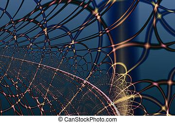 Fractal WEB Background Pattern