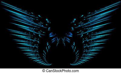 Fractal wings - Digitally created fractal wings