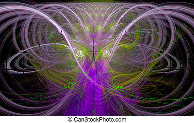 Fractal Wizard - Fractal flame that suggests the form of a...