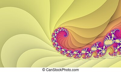 Fractal yellow spiral background