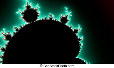 Fly through this beautiful aqua-colored Mandelbrot Fractal Set in stunning High Definition. This clip has exquisite detail and richly saturated colors.