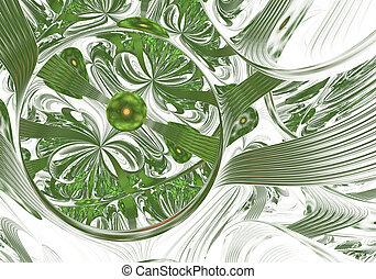 fractals, bubbles., arte, luz, digital, resumen, computadora...