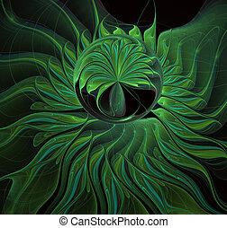 fractals, luz, arte de ordenador, delicado, resumen, fractal...