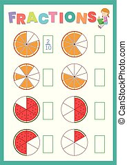 fraction work sheet prit out - fraction work sheet print out