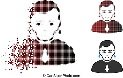 Fractured Pixel Halftone Gay Icon