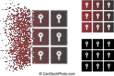 Fractured Pixel Halftone Lockers Icon