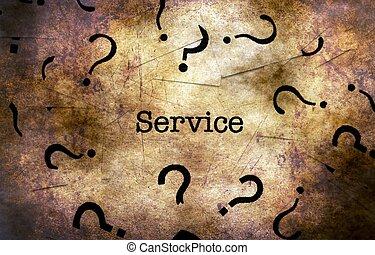 frage, begriff, grunge, service, markierung