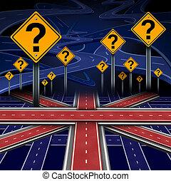 frage, britisch, europäische