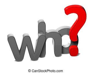 frage, hintergrund, 3d, wort, weißes