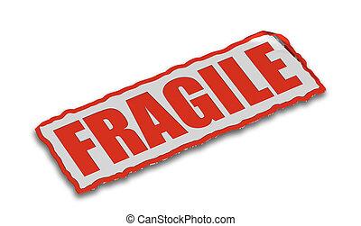 Fragile - 3D render of fragile sign