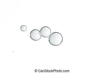 Fragile - A small group of fragile air bubbles