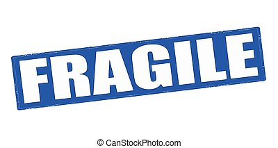 Fragile - Stamp with word fragile inside, vector...
