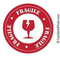 fragile design over white background vector illustration