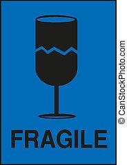 fragile glass - logistics vector icon