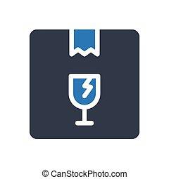 fragile   glyph color icon
