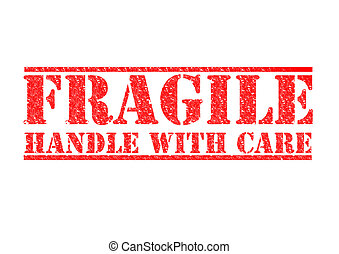 FRAGILE - Handle With Care - FRAGILE - HANDLE WITH CARE red...